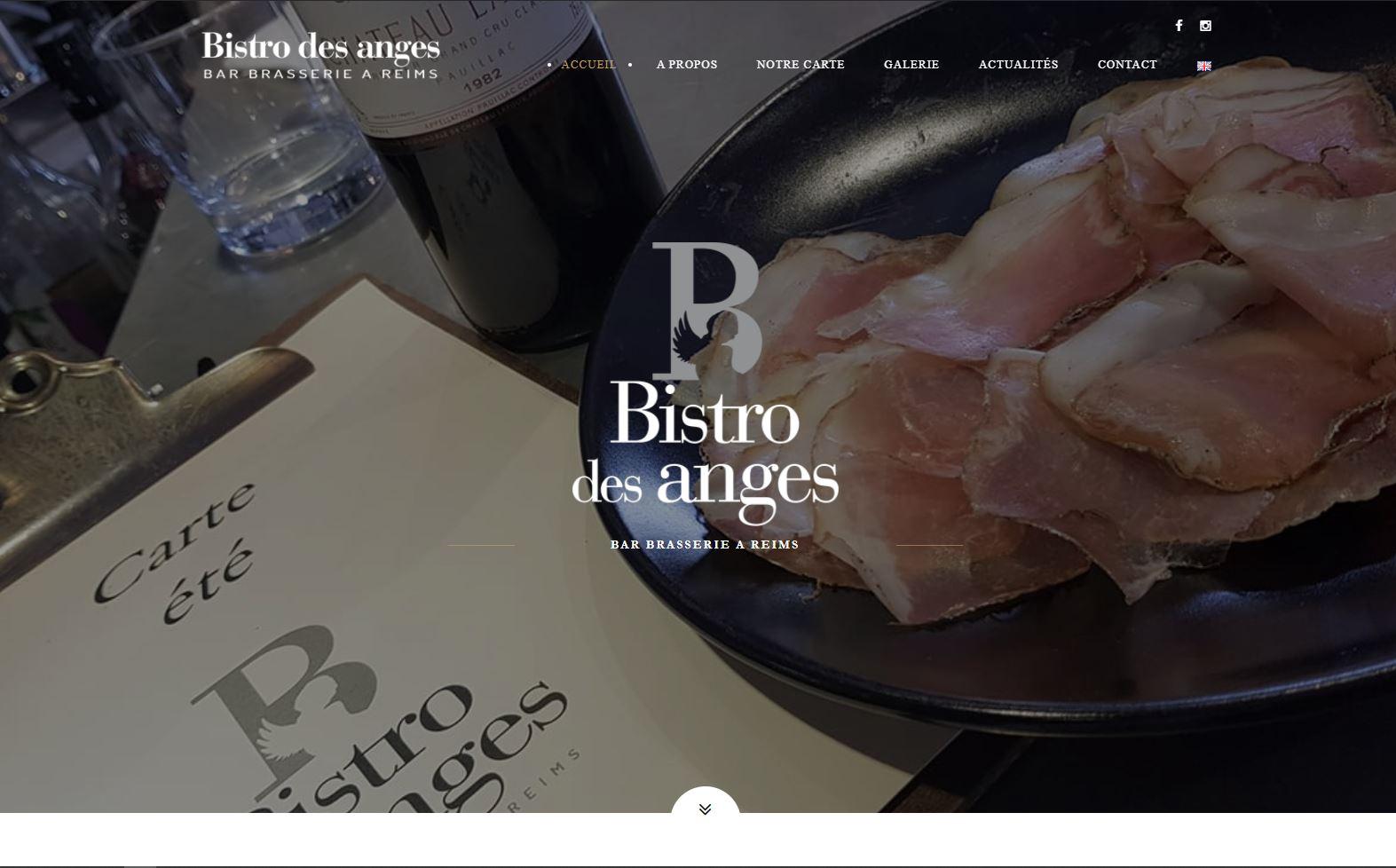 pascale-simonnet.fr - Accueil site Internet Bistro des Anges
