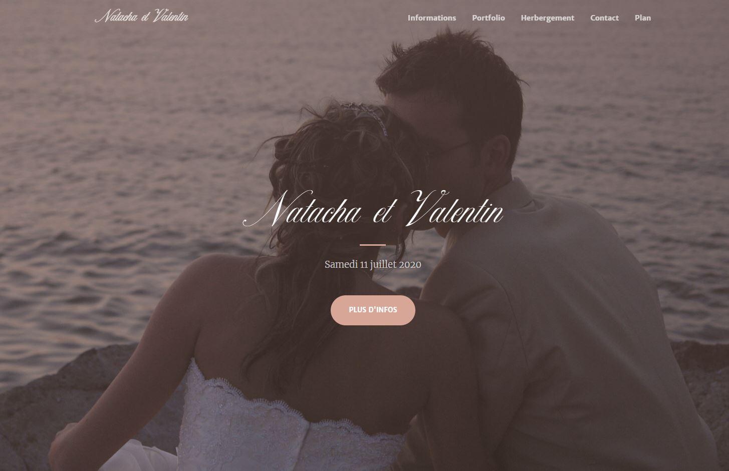 Mini site Faire-part de Mariage
